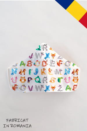 Masca bumbac cu filtru pentru copii - Abc0