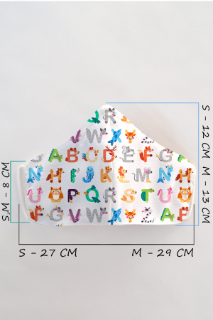 Masca bumbac cu filtru pentru copii - Abc1