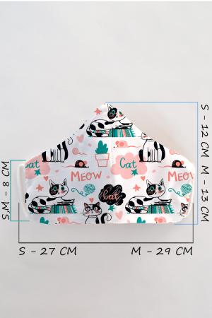 Masca bumbac cu filtru pentru copii - Meow1