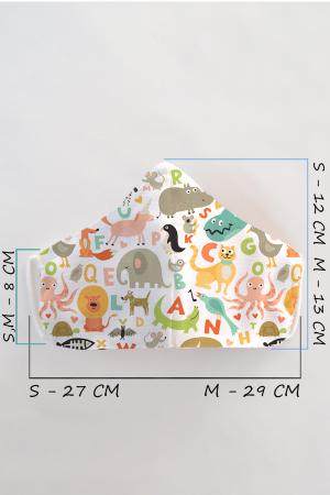 Masca bumbac cu filtru pentru copii - Animale1