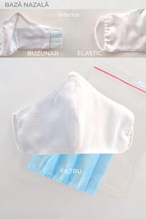 Masca bumbac cu filtru pentru adulti - Roz2
