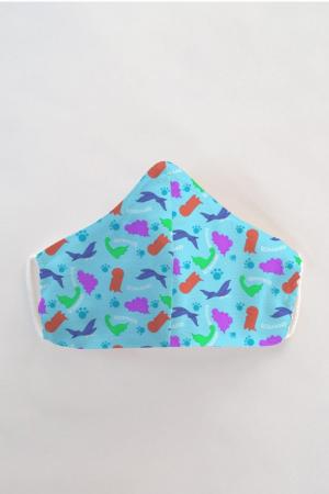 Masca bumbac cu filtru pentru copii - Dino0