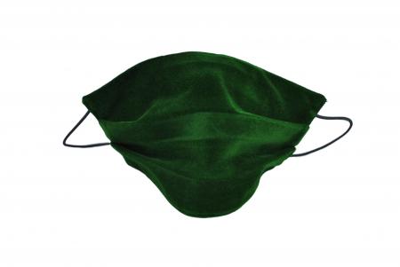Masca bumbac pentru adulti fara filtru - Catifea Verde0