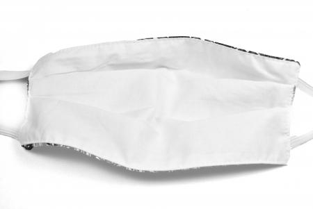 Masca bumbac pentru adulti fara filtru - Floral Crem3