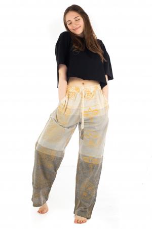 Pantaloni lejeri crem - Heart of Hinduism [4]