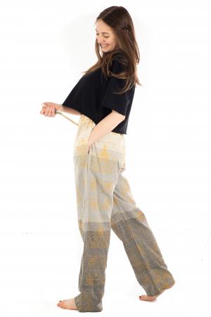 Pantaloni lejeri crem - Heart of Hinduism [2]