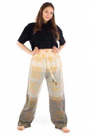 Pantaloni lejeri crem - Heart of Hinduism [1]