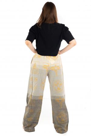 Pantaloni lejeri crem - Heart of Hinduism [3]