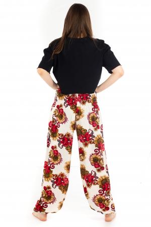 Pantaloni cu banda elastica - Floarea-Soarelui [3]