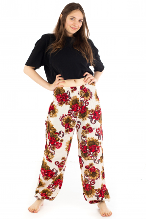 Pantaloni cu banda elastica - Floarea-Soarelui [1]