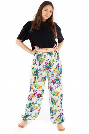 Pantaloni cu banda elastica si motive geometrice [1]
