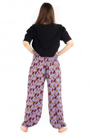 Pantaloni cu banda elastica - Trandafiri [3]