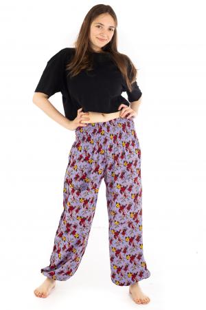 Pantaloni cu banda elastica - Trandafiri [1]