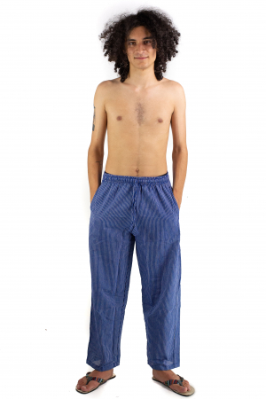 Pantaloni cu dungi - Bleumarin [1]