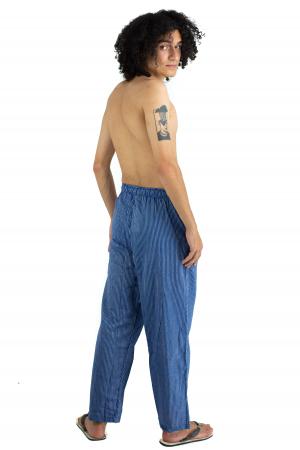 Pantaloni cu dungi - Bleumarin [4]