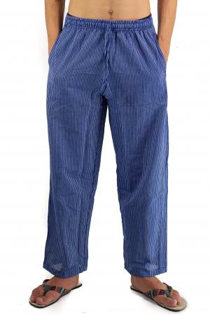 Pantaloni cu dungi - Bleumarin [0]