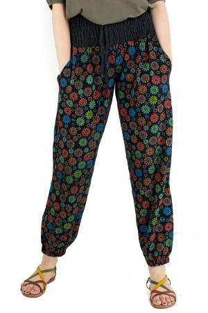 Pantaloni cu print - Flower Frenzy [0]