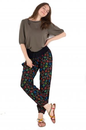 Pantaloni cu print - Flower Frenzy [2]