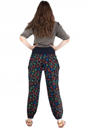 Pantaloni cu print - Flower Frenzy [5]