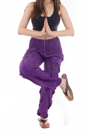 Pantaloni cu talie inalta - Purple [5]