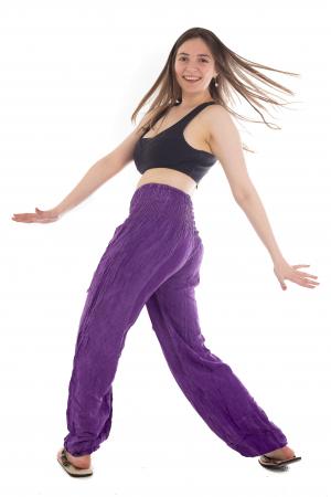 Pantaloni cu talie inalta - Purple [4]