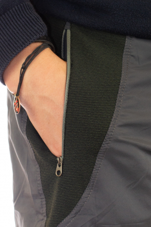 Pantaloni de drumetie - Gri cu negru4