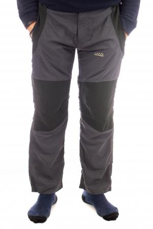 Pantaloni de drumetie - Gri cu negru0