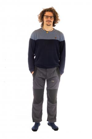 Pantaloni de drumetie - Gri cu negru1