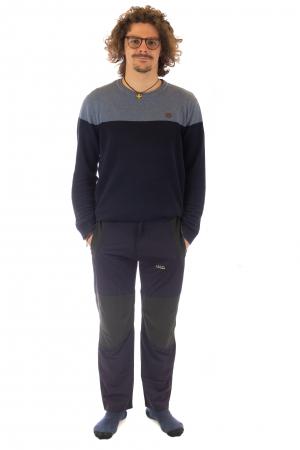 Pantaloni de drumetie - Verde cu negru1