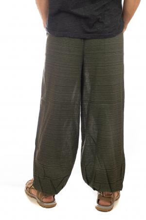 Pantaloni din bumbac cu buzunar exterior - Model 23
