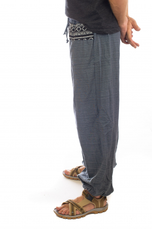 Pantaloni din bumbac cu buzunar exterior - Model 32