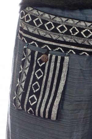 Pantaloni din bumbac cu buzunar exterior - Model 31