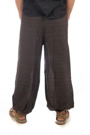 Pantaloni din bumbac cu buzunar exterior - Model 43