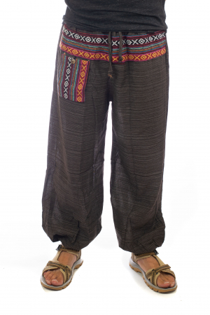 Pantaloni din bumbac cu buzunar exterior - Model 40