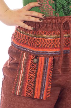 Pantaloni din bumbac cu buzunar exterior - Model 7 [2]