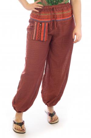 Pantaloni din bumbac cu buzunar exterior - Model 7 [1]