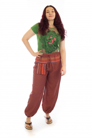 Pantaloni din bumbac cu buzunar exterior - Model 7 [0]