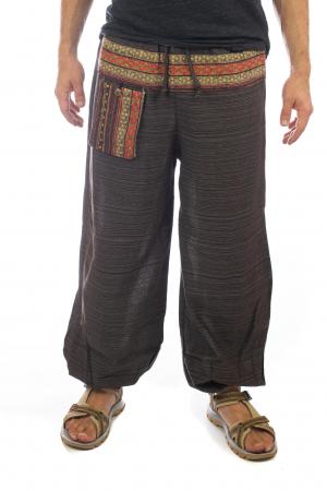 Pantaloni din bumbac cu buzunar exterior - Model 90
