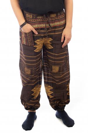 Pantaloni din bumbac cu buzunar exterior - Etno - Model 100