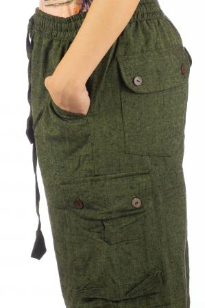 Pantaloni din bumbac cu buzunare - Khaki4