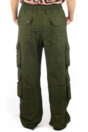 Pantaloni din bumbac cu buzunare - Khaki8