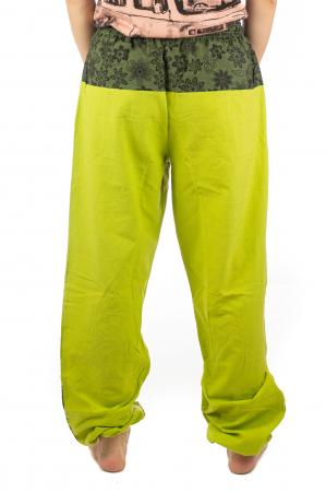 Pantaloni din bumbac cu print - Verde PT1408
