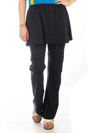 Pantaloni din bumbac cu fusta - Negri0