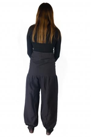 Pantaloni din bumbac - Negru3