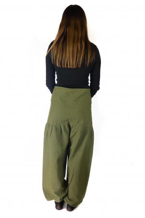 Pantaloni din bumbac - Verde [2]