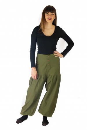 Pantaloni din bumbac - Verde [0]