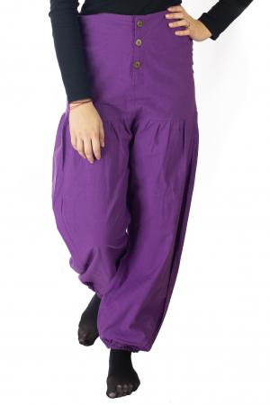 Pantaloni din bumbac - Mov [1]