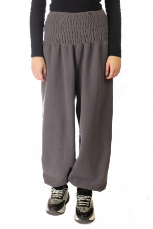 Pantaloni din polar cu banda elastica - Gri1