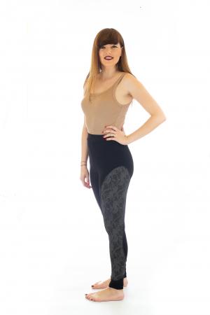 Pantaloni elastici din bumbac pentru Yoga - Model 42