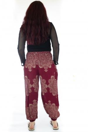 Pantaloni Jasmine cu print oriental - Model 123
